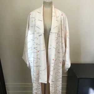 Jackets & Blazers - Vintage Japanese Floral Pattern Kimono